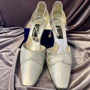 Stuart Weitzman Silver Heels w/Ankle Strap